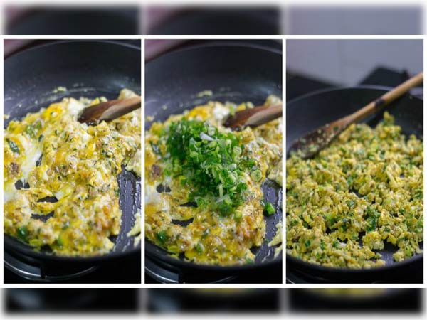 how to make special egg bhurji: in Kannada