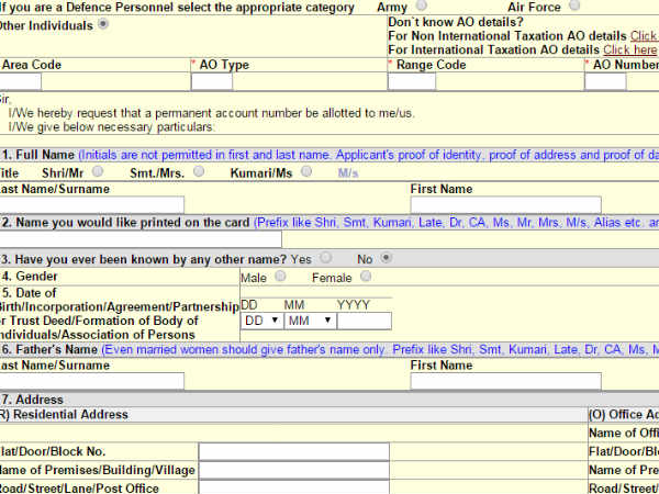 How to apply for PAN card in online 6