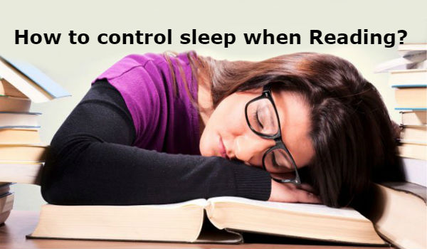 How to control sleep during studying or reading in kannada